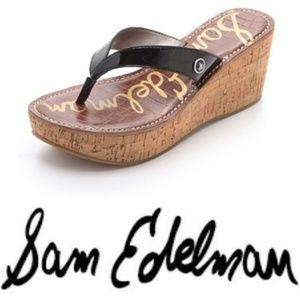0b4289df749b9f Sam Edelman Shoes - SAM EDELMAN Romy Wedge Sandal in Black Size 8.5